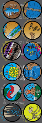 Earth Science Badges - Side