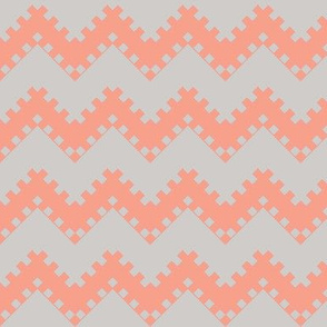 8bit Chevron in Coral