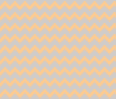 8bit Chevron in Peach fabric by ilikemeat on Spoonflower - custom fabric