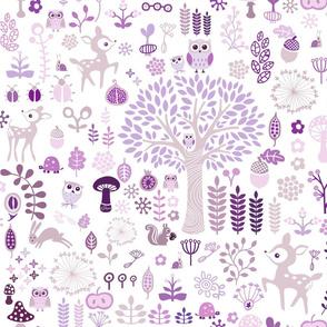 Purple Woodland Wonderland