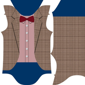 tweed suit with bowtie 3-6 month baby bodysuit
