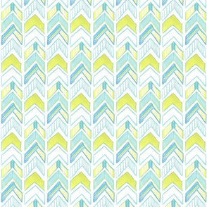 Chalk Chevron in Yellow and Blue