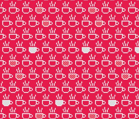 8-bit coffee fabric by ebygomm on Spoonflower - custom fabric