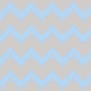 8bit Chevron in Baby Blue