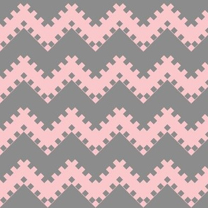8bit Chevron in Pink 2
