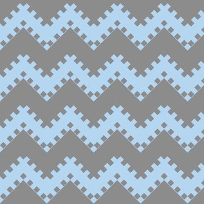 8bit Chevron in Baby Blue 2