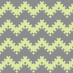 8bit Chevron in Green 2