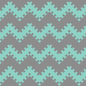 8bit Chevron in Teal 2