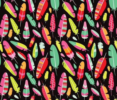 Aztec bird bohemian indian summer feather fabric by littlesmilemakers on Spoonflower - custom fabric