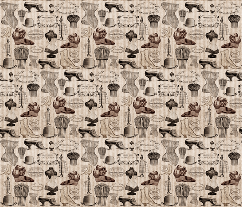 Victorian fabric by firedryad1 on Spoonflower - custom fabric