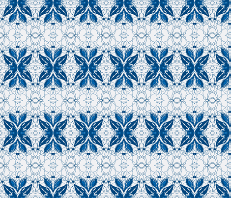 Blue Line Special fabric by serendipity_textiles on Spoonflower - custom fabric