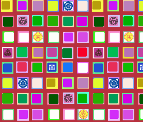 Blossom-Viewing Screen  fabric by boris_thumbkin on Spoonflower - custom fabric