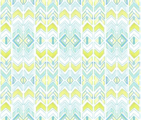 Chalk Chevron  fabric by emilysanford on Spoonflower - custom fabric