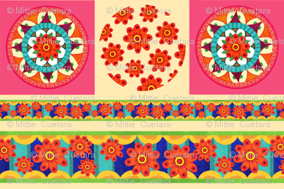 Daisy Mandala Pillow
