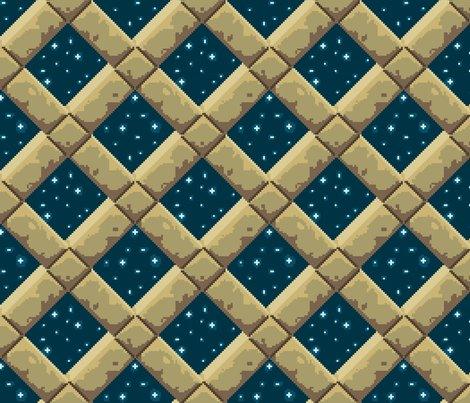 Stone lattice night sky fabric mongiesama spoonflower for Night sky print fabric