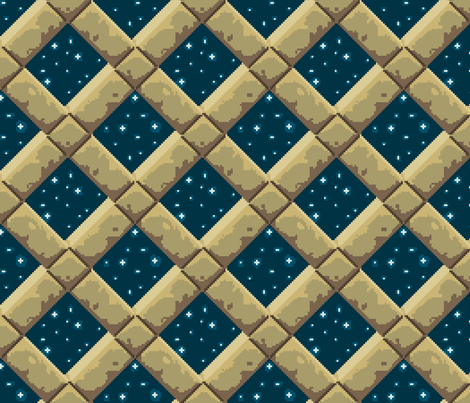 Stone lattice, night sky fabric by mongiesama on Spoonflower - custom fabric