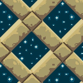 Stone lattice, night sky