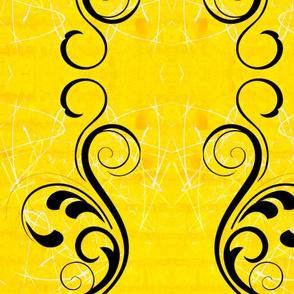 The big black swirl on sunshine yellow