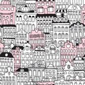 Amsterdam home architecture illustration