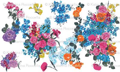 bouquet on white - custom palette