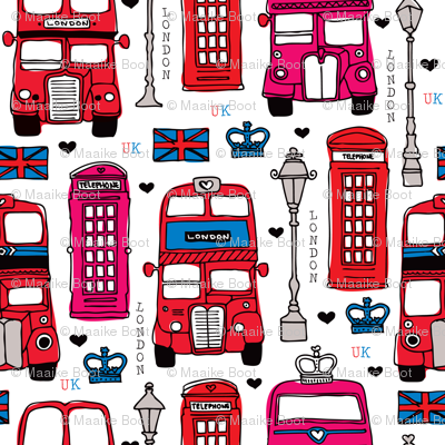 London icon bus taxi and telephone booth