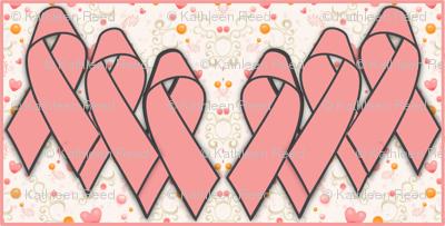 Pink Awareness Ribbon Fabric
