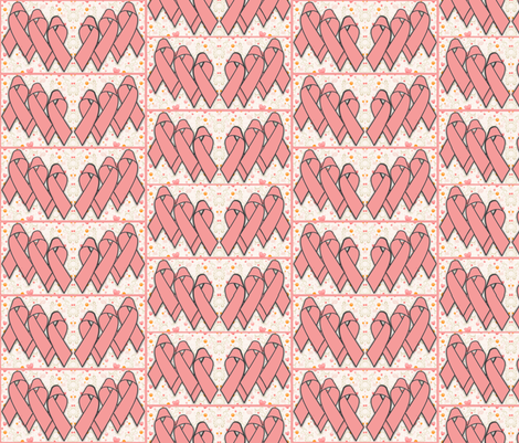 Pink Awareness Ribbon Fabric fabric by dogdaze_ on Spoonflower - custom fabric
