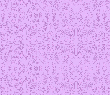Whimsical Pembroke outlines - lavender fabric by rusticcorgi on Spoonflower - custom fabric