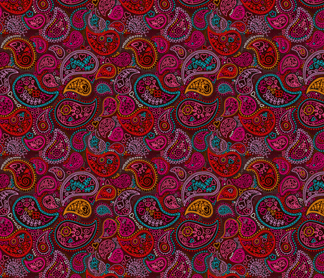 Oriental arabic india paisley fabric by littlesmilemakers on Spoonflower - custom fabric