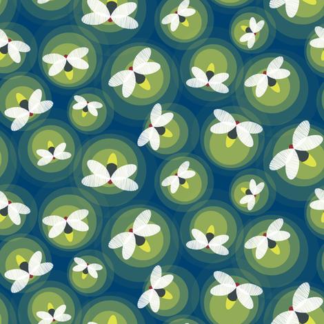 Fireflies smaller fabric by jillbyers on Spoonflower - custom fabric