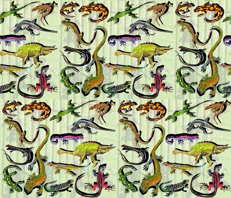 Reptiles fabric by lucy_autrey_wilson on Spoonflower - custom fabric