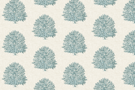 All Over Coral in Robin Egg Blue fabric by willowlanetextiles on Spoonflower - custom fabric