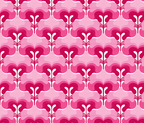 vintage splash pink fabric by myracle on Spoonflower - custom fabric