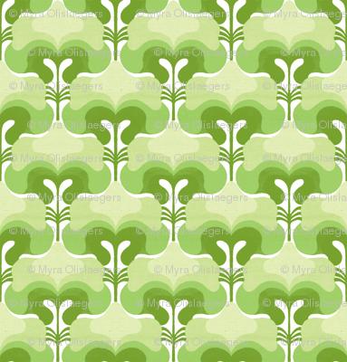 vintage splash green