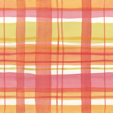 Summer Plaid fabric by jillbyers on Spoonflower - custom fabric