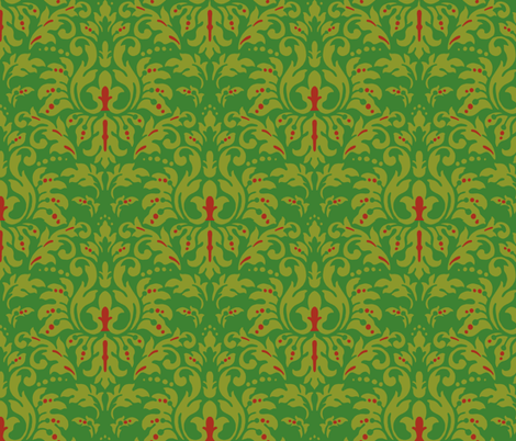 Forest_Damask fabric by kelly_a on Spoonflower - custom fabric