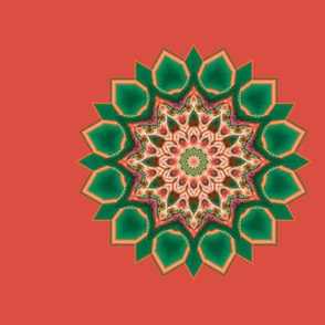 Kaleidescope 0310 k1 r1 turquoise k1 (mandala)