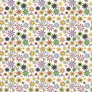 A colourful flower pattern - large
