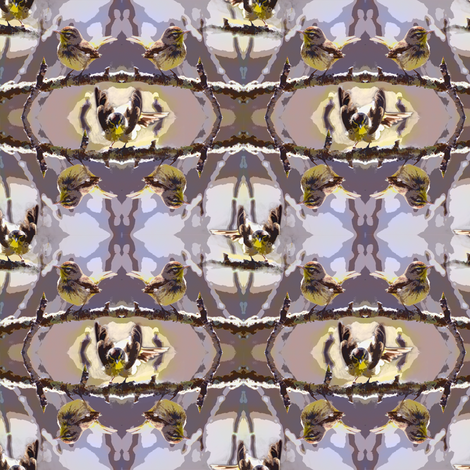 Palm Warbler fabric by eclectic_house on Spoonflower - custom fabric