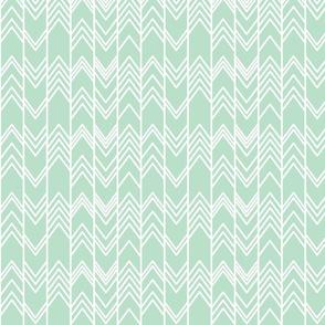 Mint Ikat Ziggy - Mint Chevron Herringbone