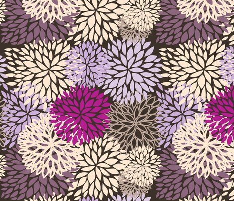floral fabric by mcherevan on Spoonflower - custom fabric