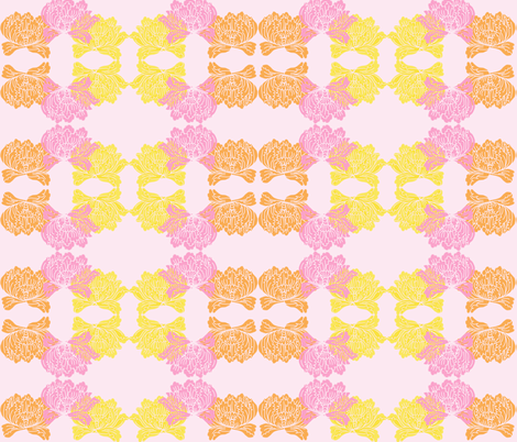 Rohrshach floral fabric by deesree on Spoonflower - custom fabric