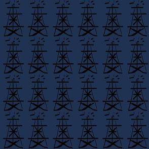 Oil in blue