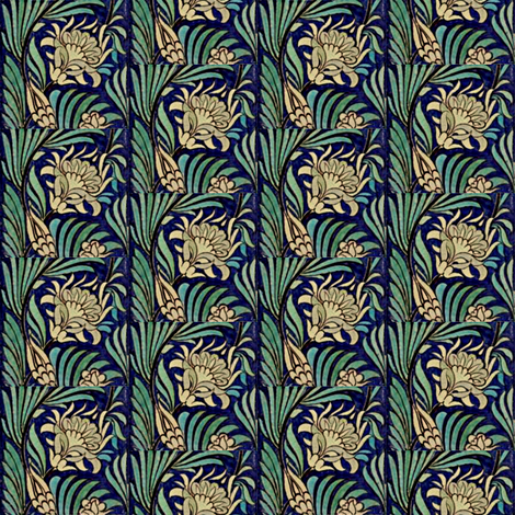 Water Lily fabric by amyvail on Spoonflower - custom fabric
