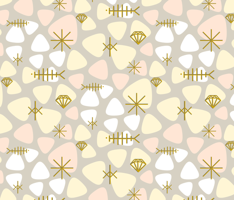 mod fish mobile fabric by ravynka on Spoonflower - custom fabric
