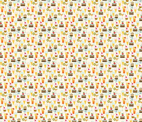 Dessert fabric by valendji on Spoonflower - custom fabric