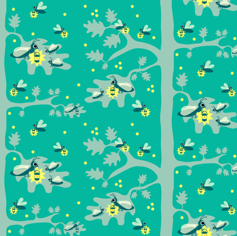 fireflies fabric by annets on Spoonflower - custom fabric