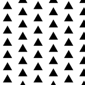 Black Triangles on White