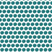 tiny teal sea shells