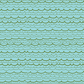 seaweed green waves on aqua